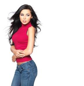 alyssa in jeans