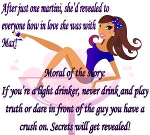 Sexy Woman in Martini glass. Vector Illustration.