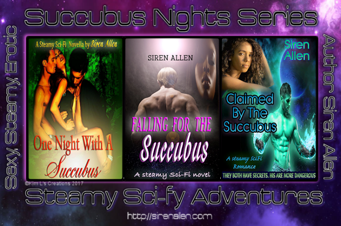#CoverReveal Claimed By The Succubus #Scifi #Supernatural  #SuccubusNights