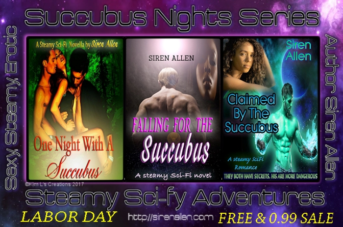 Fall in love with a Succubus. #LaborDaySale #SFRB #SuccubusNights
